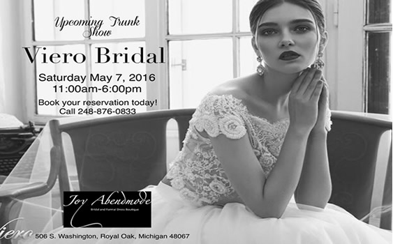 Viero Bridal Trunk Show - Fun Things to do in Detroit | FunInTheD.com